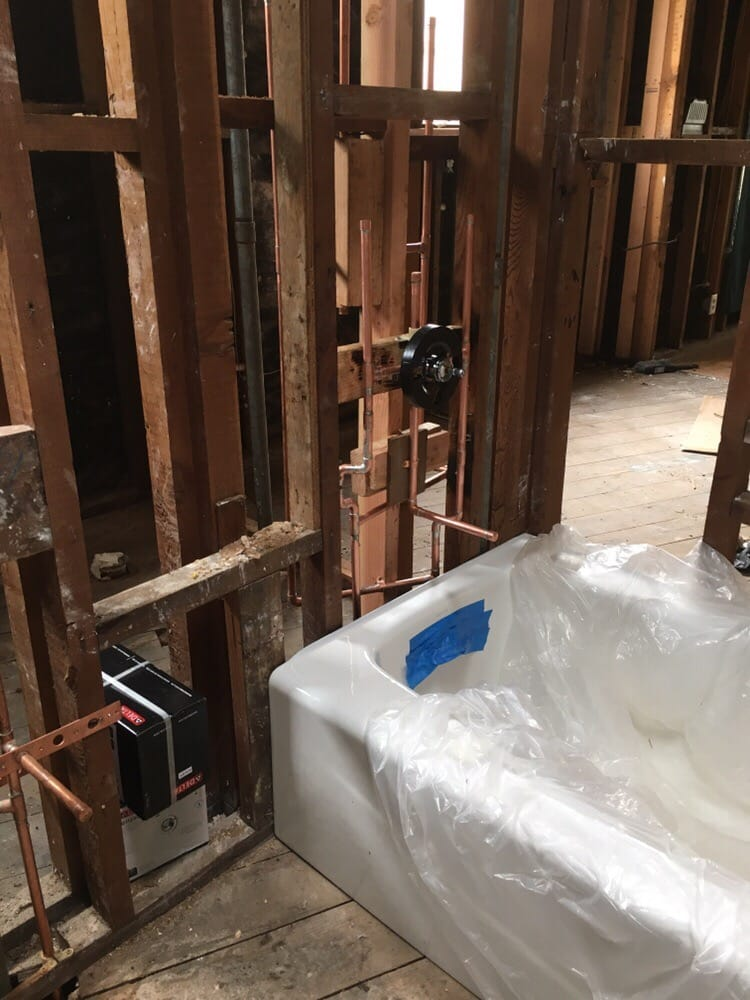 Bathroom remodel in progress done by Citywide Plumbing - Yelp