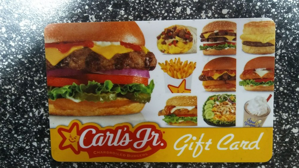 carl s jr gift card my phony baloney carl s jr quot gift card quot yelp 1436