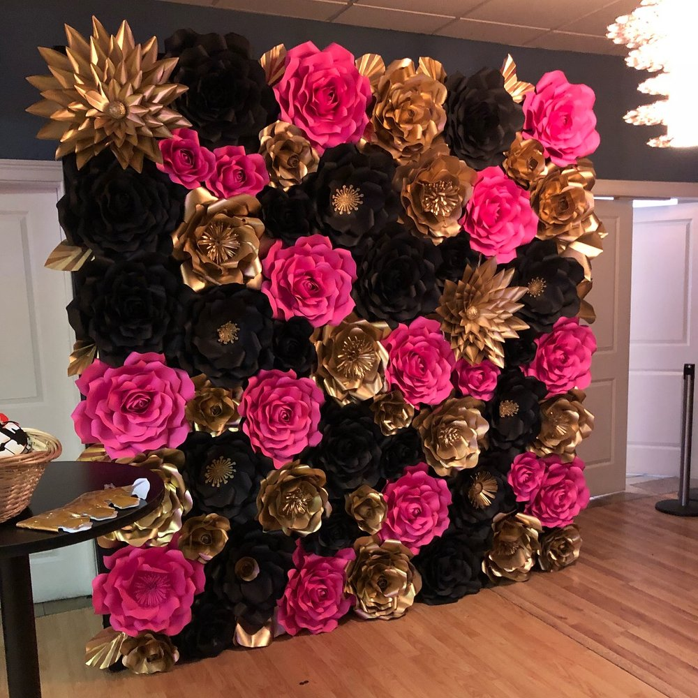 Gold Black Pink Flower Wall Yelp