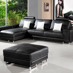 Photo Of Intra Furniture   Kent, WA, United States. Black Bonded Leather  Sectional