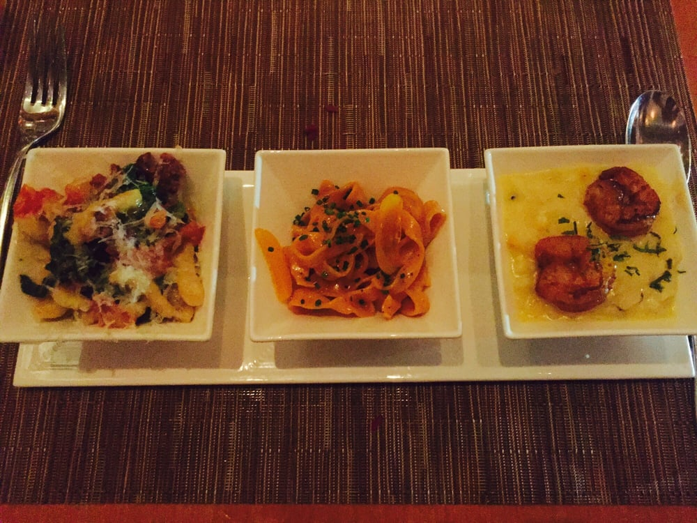 Pasta sampler spicy shrimp risotto and handmade pasta for Spicy prawn risotto