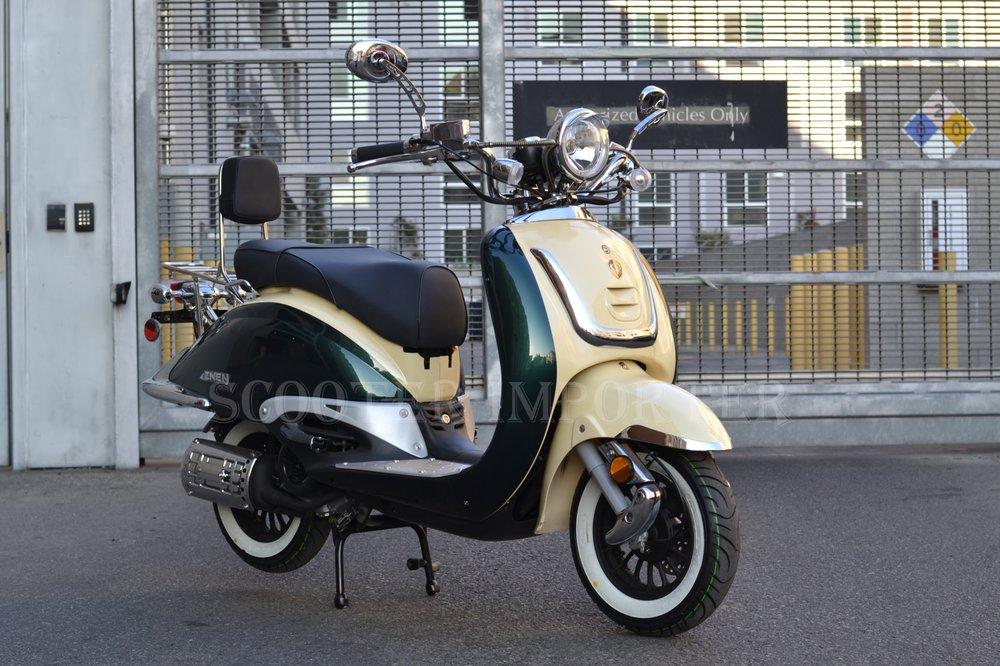 Brand New ZNEN ZN150T-G 150cc Scooter Retro Style | 2-Tone