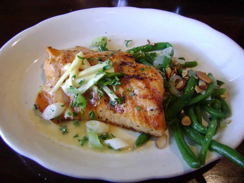 ... topped with ginger butter & served with almond green beans) - Yelp