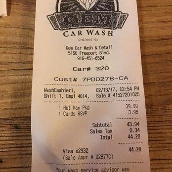Gem Car Wash Sacramento Ca