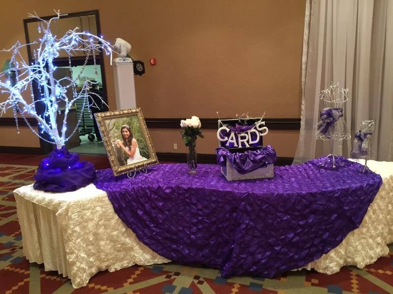 quinceanera gift table decor yelp