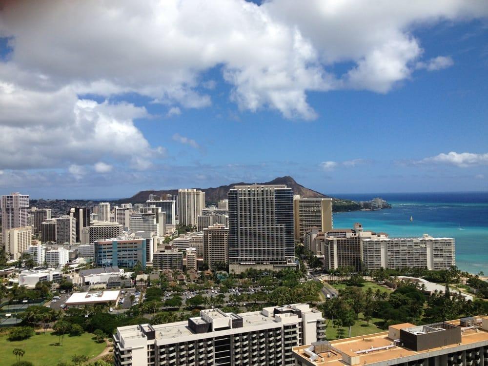 Hilton Hawaiian Village Waikiki Beach Photo Gallery: Diamond Head View From Room Balcony.