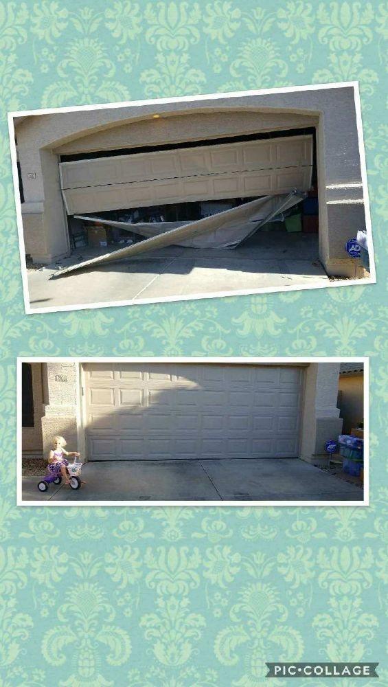 Well Hung Garage Door: 11721 NW Grand Ave, El Mirage, AZ