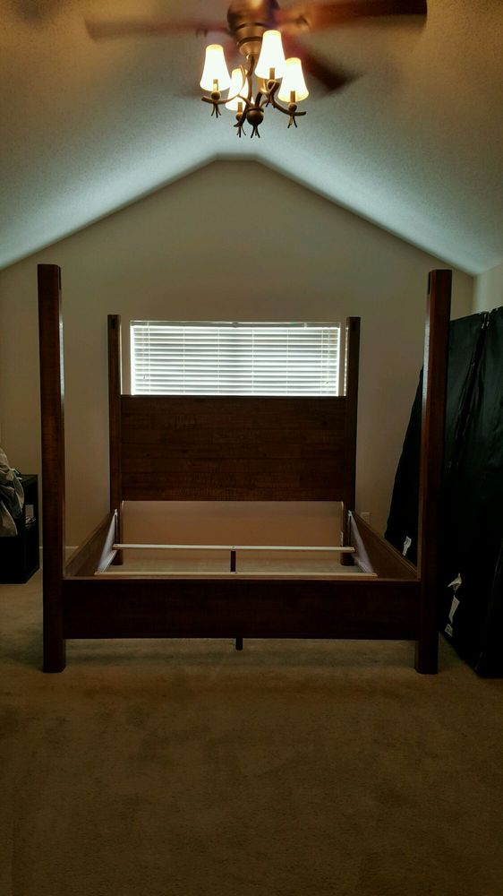 Photo Of Ashley Home Charlotte Nc United States Incomplete Canopy Bed Right