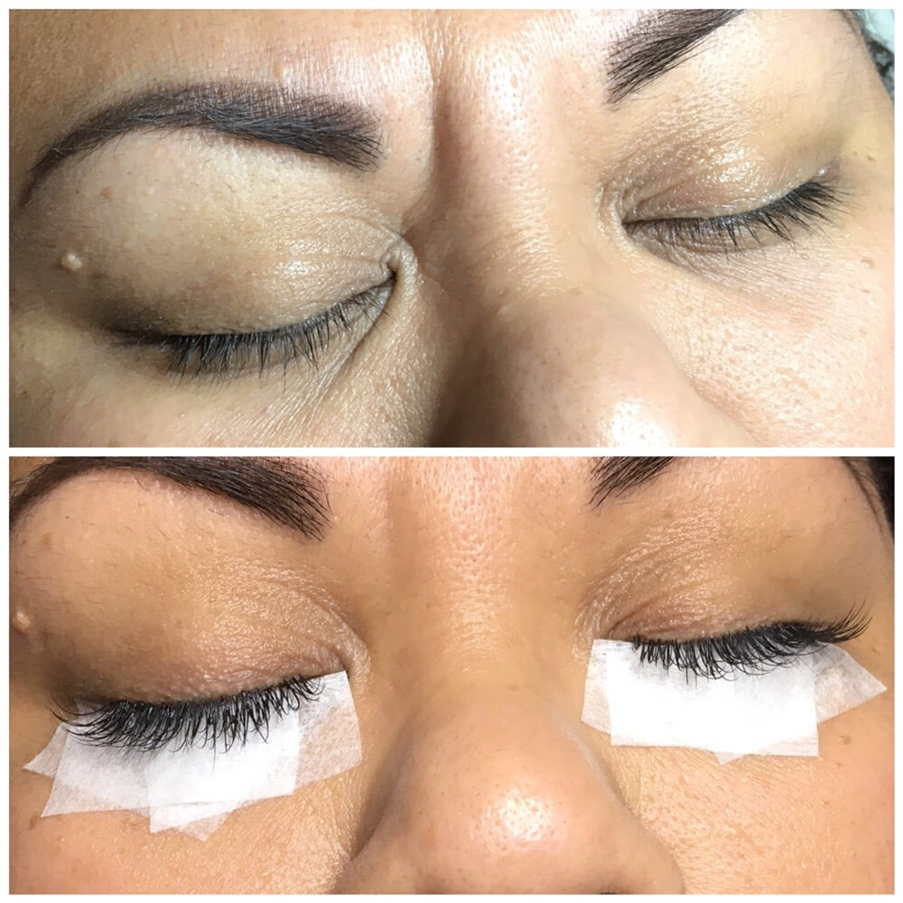 Before And After Eyelash Extensions Done By Our Senior Stylist