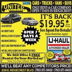 United Rent A Car In Ridgecrest Ca