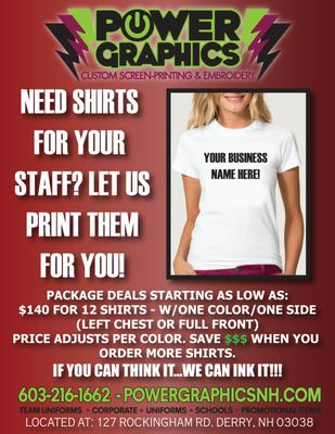 8e242319 Power Graphics - Screen Printing/T-Shirt Printing - 127 Rockinham Rd ...
