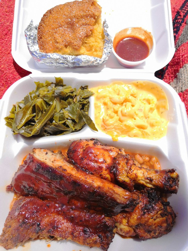 Food from JoJo's Soul Food and Memphis BBQ