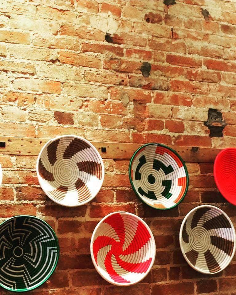 Wall decor inside the coffee shop. - Yelp