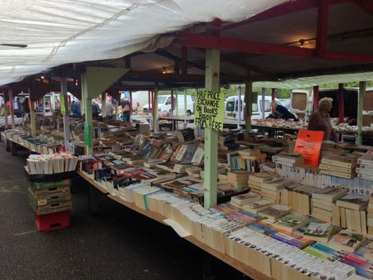 Image result for book stall at flea market