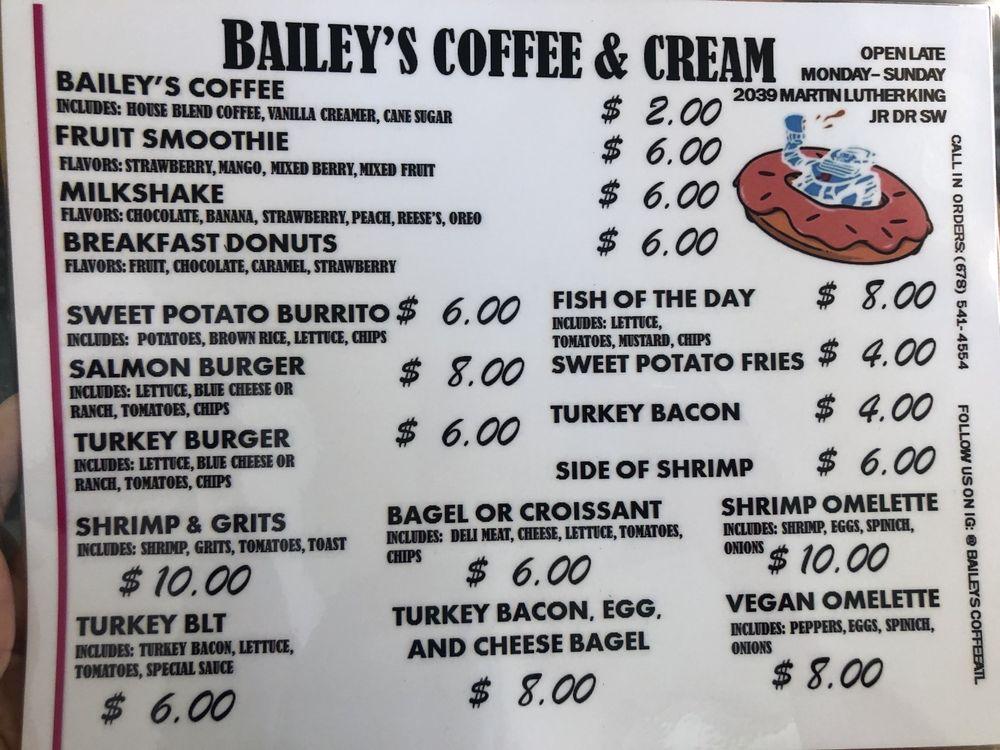 Bailey's Coffee & Cream: 2039 Mlk Jr Dr SW, Atlanta, GA