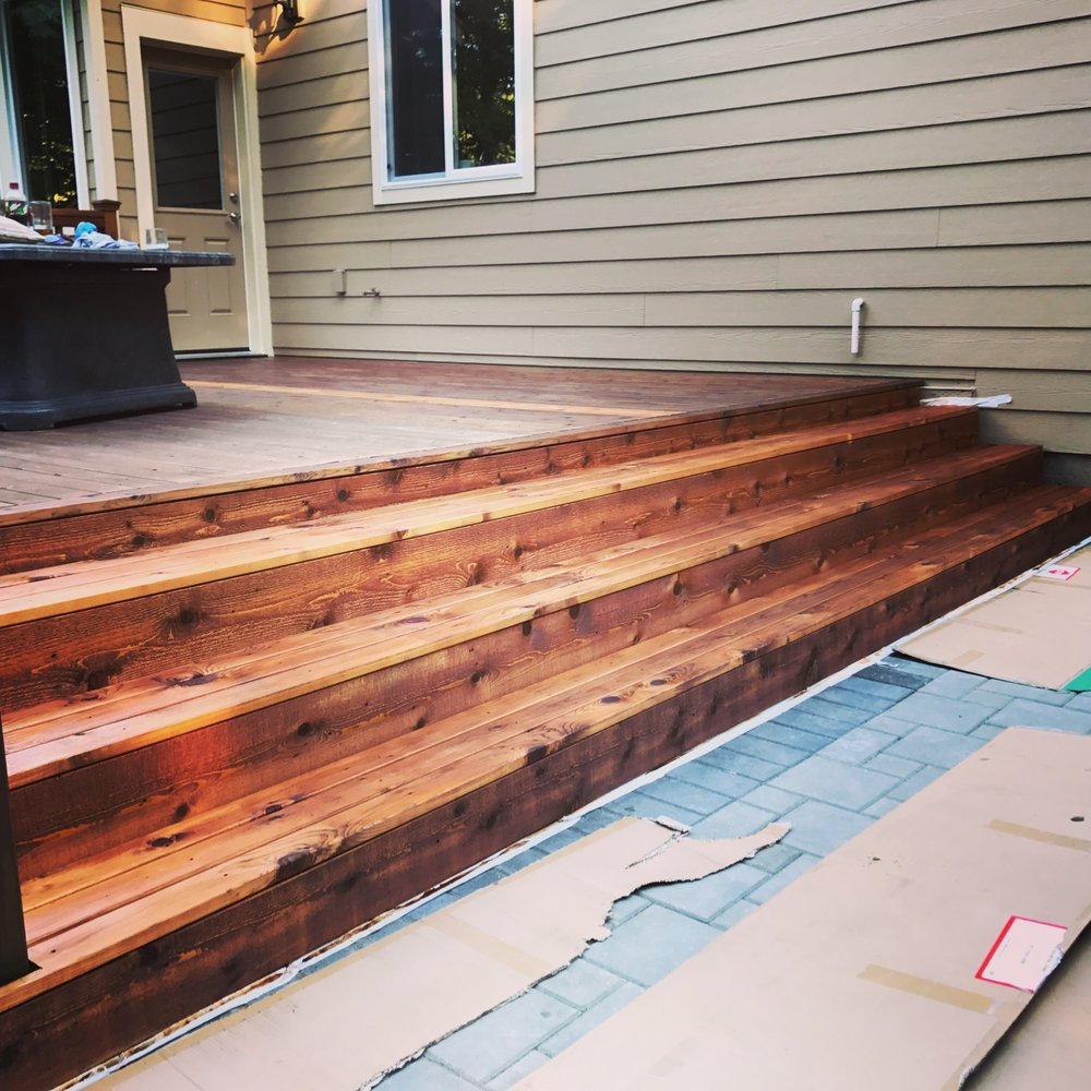 Painters Mill Apartments: Deck Steps They Added