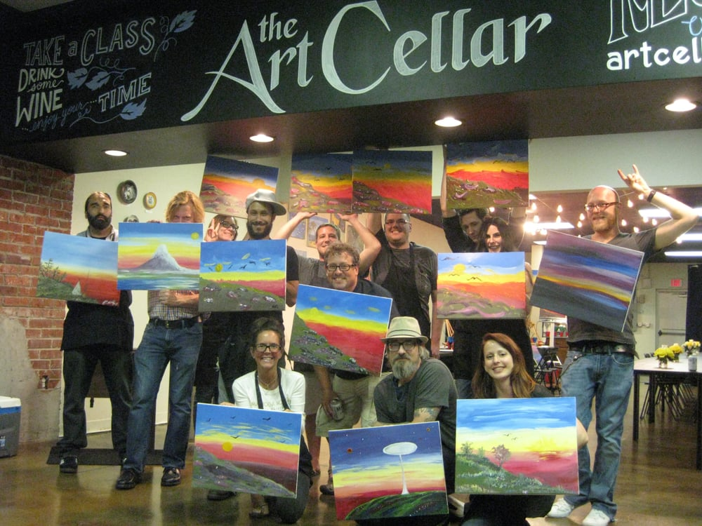 The art cellar of houston 32 photos paint sip 1460 for Sip and paint houston