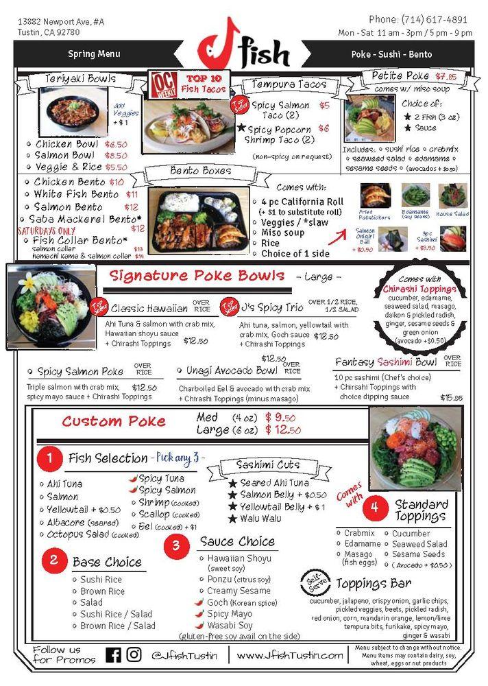 Photos for j fish premium poke sushi menu yelp for Fish me poke menu