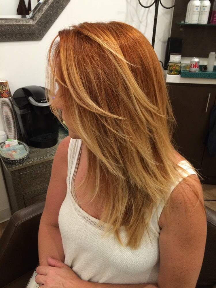 Copper Red Hair With Blonde Highlights Find Your Perfect Hair Style