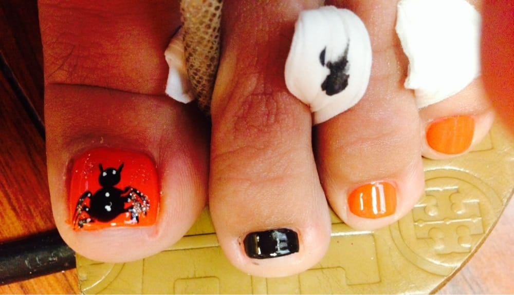 Nail design by Katie... Ready for Halloween!! - Yelp