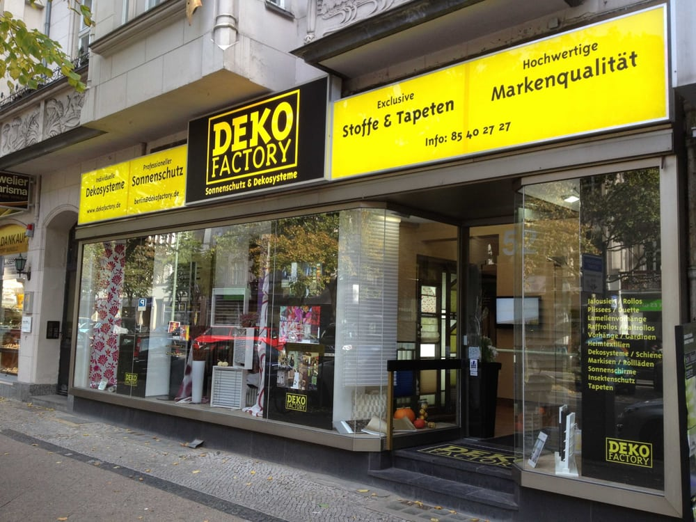 deko factory get quote shades blinds rheinstr 52 steglitz berlin germany 12 photos. Black Bedroom Furniture Sets. Home Design Ideas