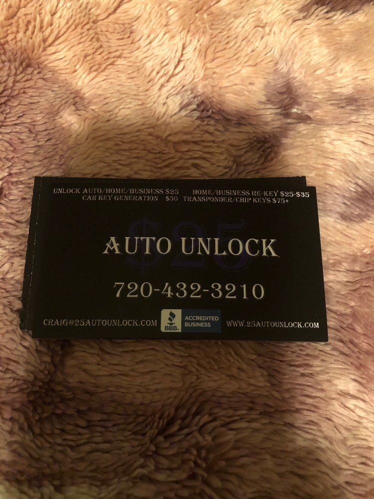$25 Auto Unlock