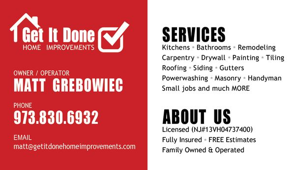 Get It Done Home Improvements Heights Rd Wayne NJ General - Bathroom remodeling wayne nj