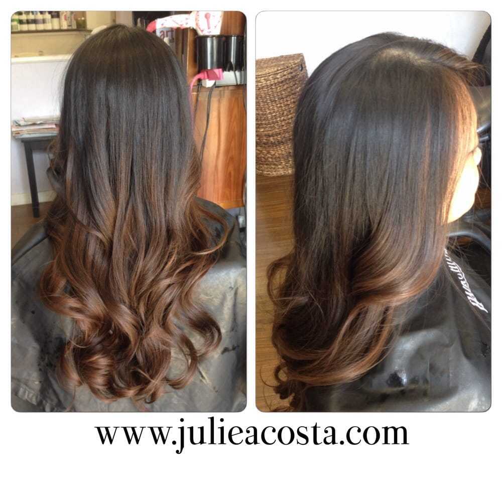 Blended Balayage Ombr On Virgin Hair Using Color No Bleach Yelp