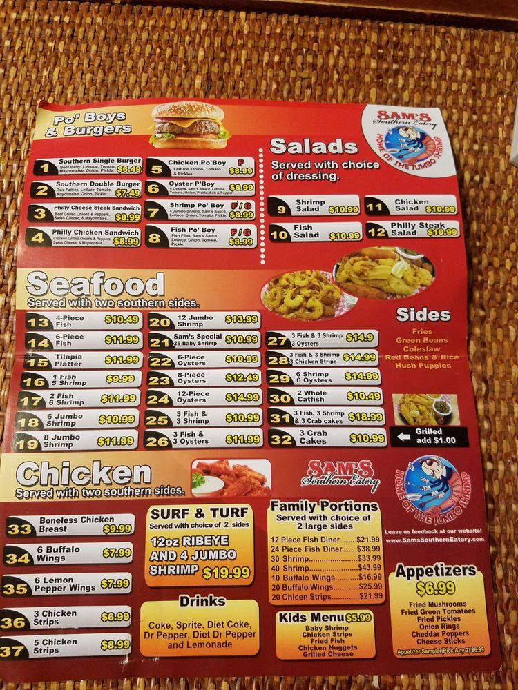 Sams southern eatery: 720 W Gary Blvd, Clinton, OK