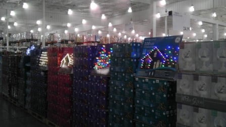 Costco selling Christmas lights in August...always thinking ahead ...