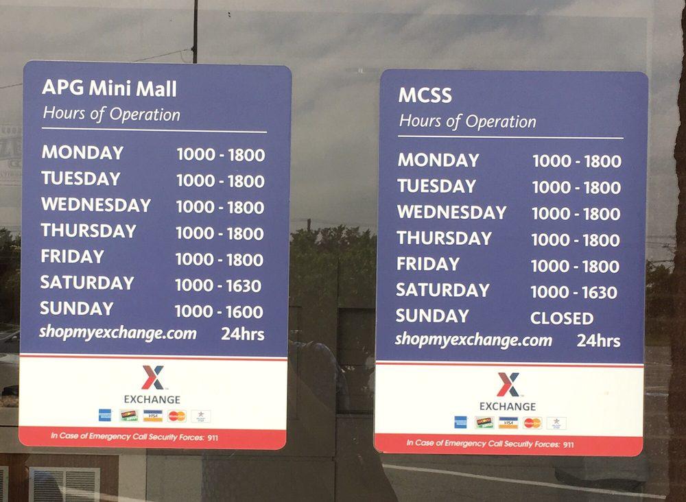 Aberdeen Proving Ground Post Exchange: Aberdeen, MD