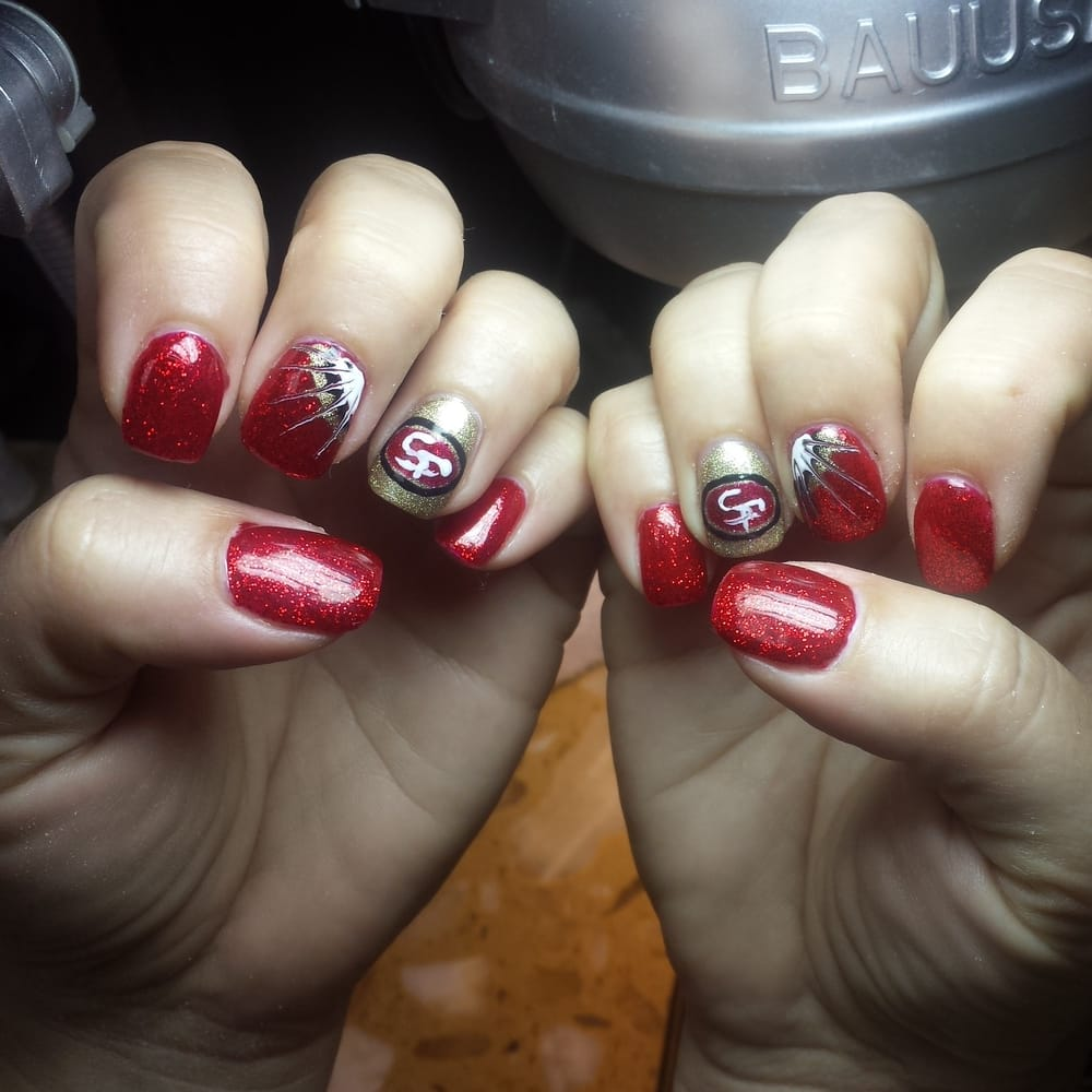 San Francisco 49ers nail art by Richard - Yelp