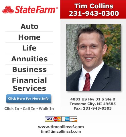 Tim Collins - State Farm Insurance Agent: 4001 US Hwy 31 S, Traverse City, MI