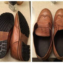Photo Of Mariny S Shoe Repair Chicago Il United States Leather Wingtips After