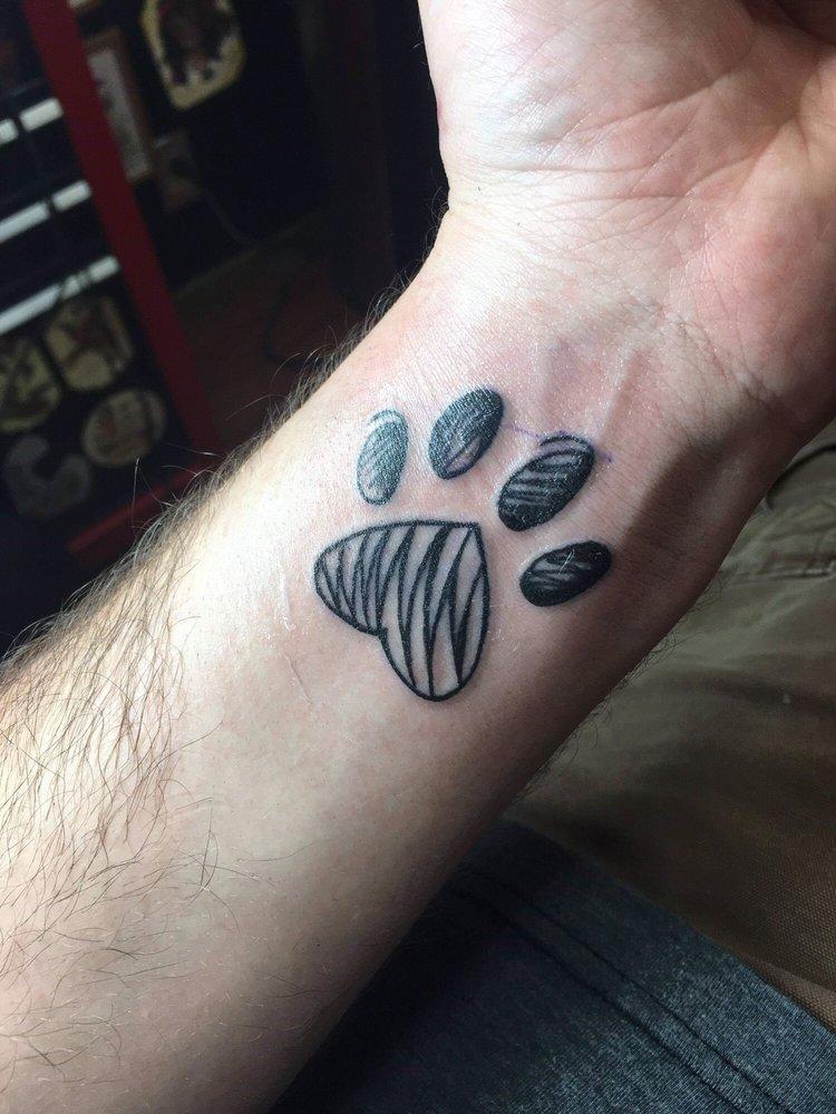 Paw print tattoo - Yelp