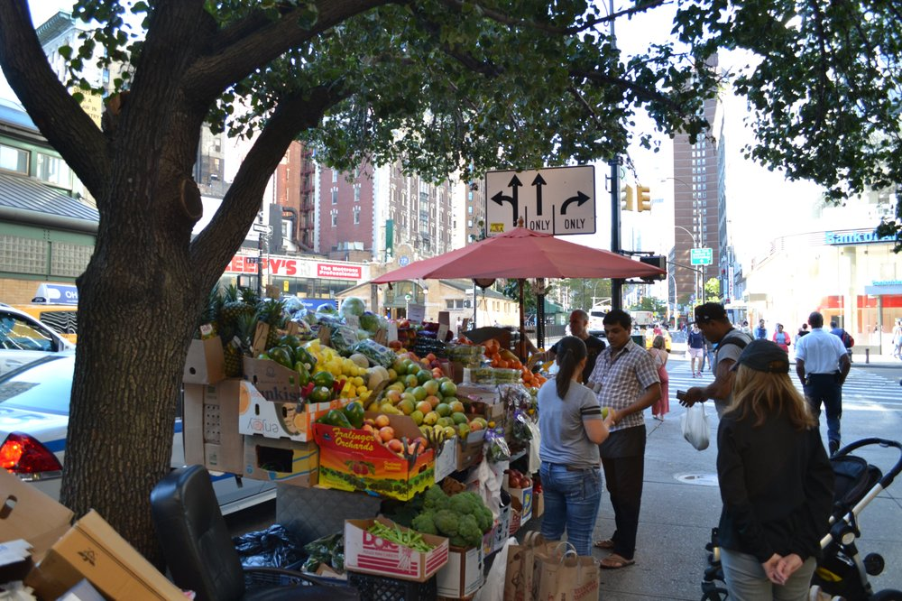 Fruit Stand Guy On The Corner: New York, NY