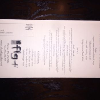 Blue Fig Cafe Menu Moorestown Nj