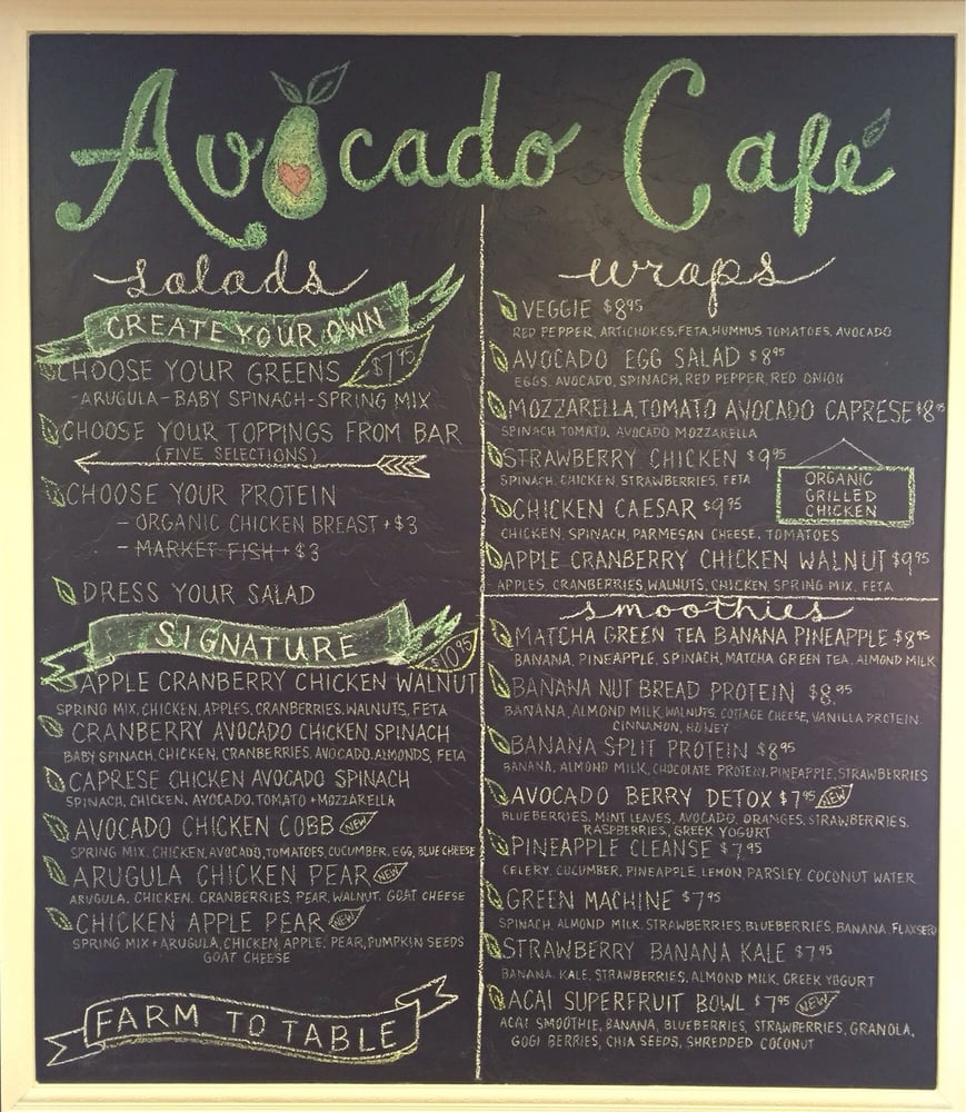 Avocado Caf 232 S New Menu Check Out Our New Items Yelp