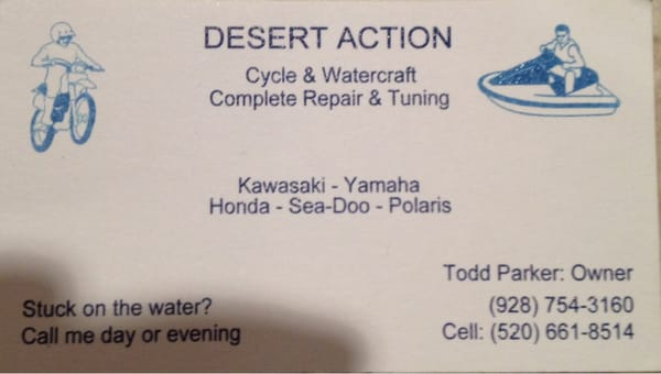 Desert Action - Cycle & Watercraft Repair Bullhead City, AZ Boat