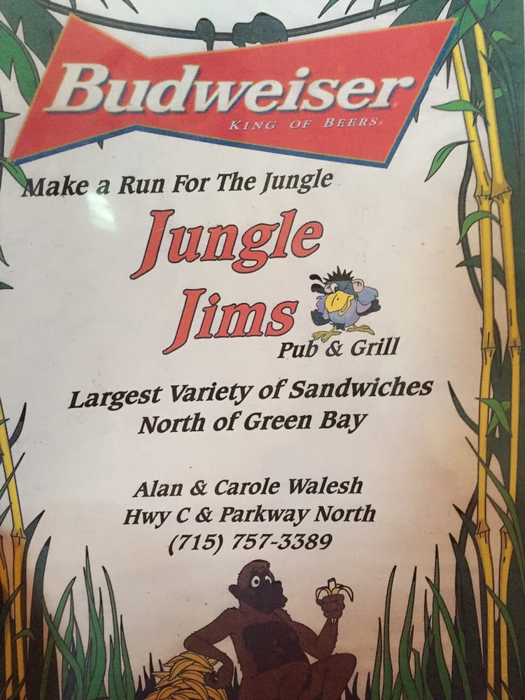 Jungle Jim's Pub N Grub: W13440 County Rd C, Athelstane, WI