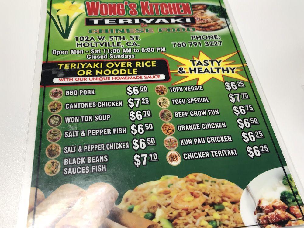 Online Menu of Wongs Kitchen Restaurant