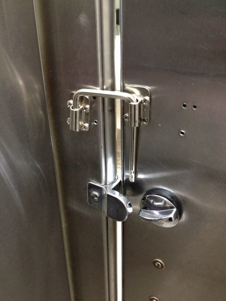 Interesting bathroom stall door latch. Hey it works! :) | Yelp