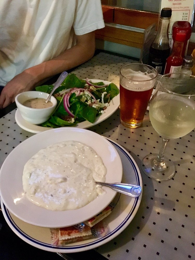 Delicious spinach salad and clam chowder - Yelp