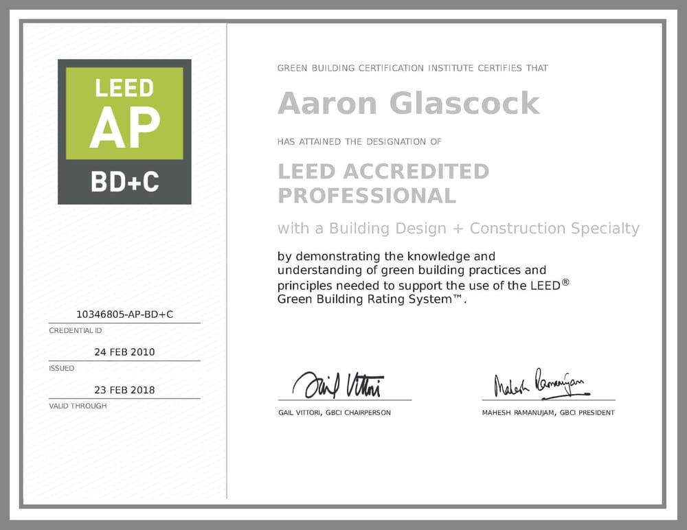 Continuing With My Leed Accreditation Helps To Ensure I Stay Aware
