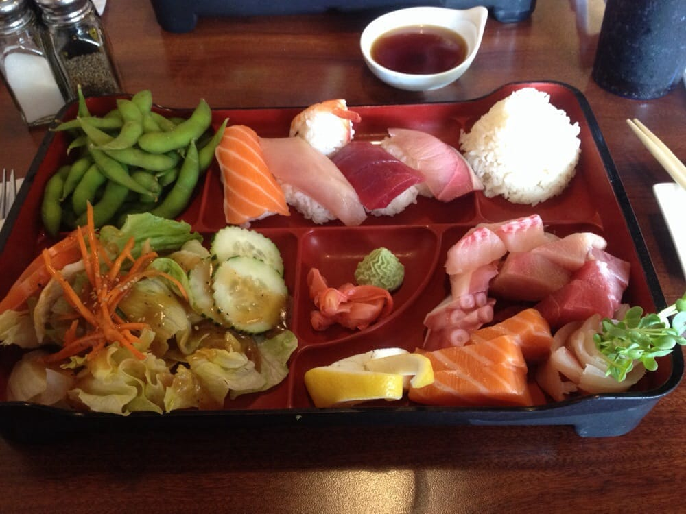 Bento box e was amazing went for lunch and was amazed for Asian cuisine fresno
