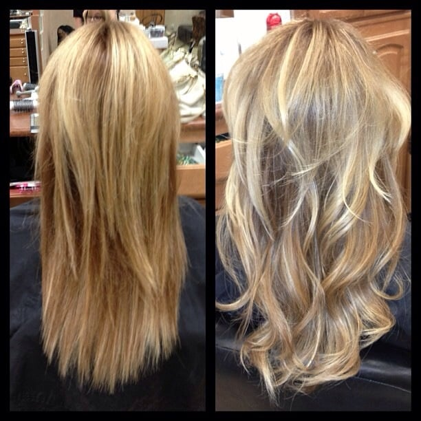 Before And After Tape In Hotheads Hair Extensions Replacement