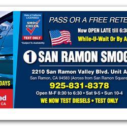 smog coupon san ramon