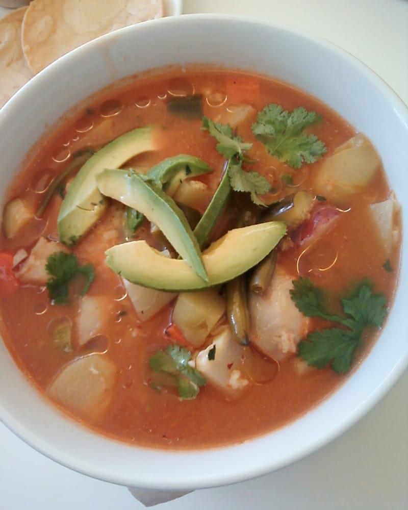 Caldo Tlalpeno Hearty Organic Chicken Soup Calabazitas