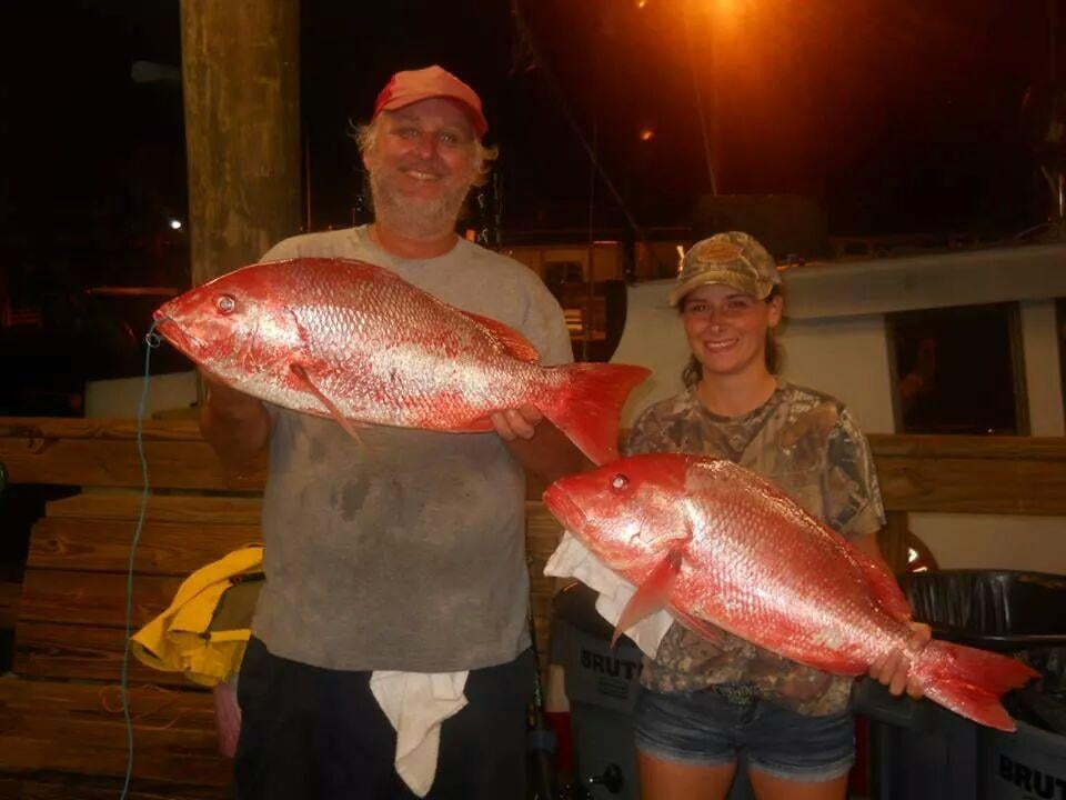 2 red snapper caught onboard the majesty these are for Majesty deep sea fishing