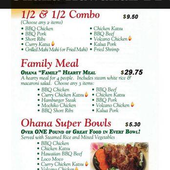 Ohana hawaiian bbq coupons